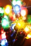 lumière électrique colorée d'ampoules Image libre de droits
