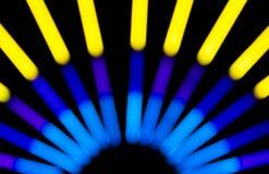 Lumière électrique de tache floue Photo stock