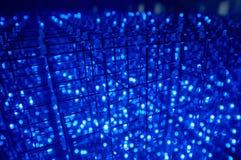 lumière aboutie électrique bleue Photo stock