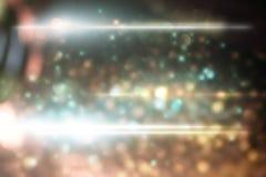 Lumière abstraite avec la fusée optique Images stock