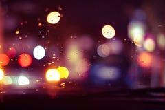 Lumière abstraite dans la cuvette vue par automne par verre image stock