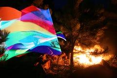 Lumière abstraite de tache floue de mouvement d'arc-en-ciel images libres de droits