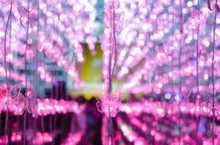 Lumière acrylique du papillon mou LED de tache floue Image stock