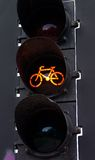 Lumière ambre de bicyclette Photographie stock libre de droits