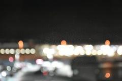 Lumière après fenêtre de vue de nuit de ville Photographie stock