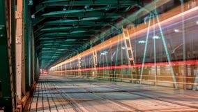 Lumière au pont Image stock