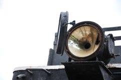 lumière avant de vieux train photographie stock
