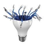 Lumière avec le câble Photos libres de droits