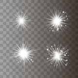 Lumière blanche avec la poussière photo libre de droits
