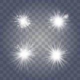 Lumière blanche avec la poussière illustration libre de droits