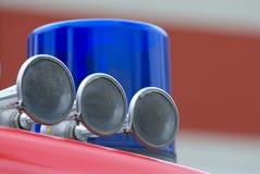 Lumière bleue d'incendie Photographie stock