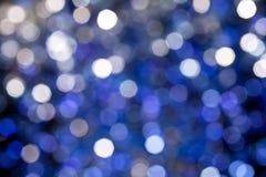 Lumière bleue de Bokeh Photos stock