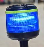 Lumière bleue de la moto de police Images libres de droits