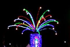 Lumière brouillée d'arbre pour le concept de Noël Photographie stock