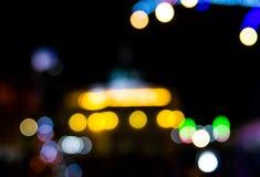 Lumière brouillée pour le concept de Noël Photographie stock