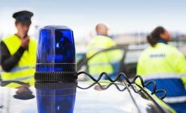 Lumière clignotante bleue Image stock