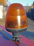 Lumière clignotante jaune Image stock