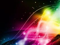 lumière colorée de fond abstrait Photo libre de droits