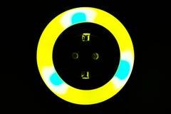 Lumière colorée de nuit Photographie stock libre de droits