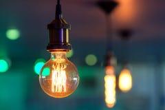 Lumière comparée Photo stock