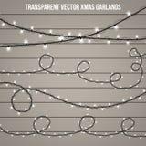 Lumière créative abstraite de guirlande de Noël d'isolement sur le fond descripteur Dirigez l'art de clipart d'illustration pour  Photo libre de droits