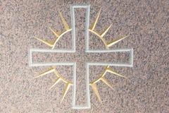 Lumière croisée et merveilleuse sur une surface en pierre Photographie stock libre de droits