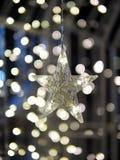 Lumière d'étoile et fond de Bokeh Photos stock