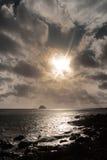 lumière d'île d'effet intense images libres de droits