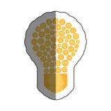 lumière d'ampoule avec le symbole d'écologie Images stock