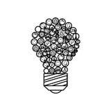 lumière d'ampoule avec le symbole d'écologie Photos stock