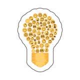 lumière d'ampoule avec le symbole d'écologie Photo libre de droits