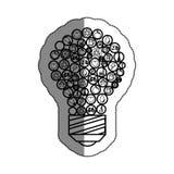 lumière d'ampoule avec le symbole d'écologie Image libre de droits
