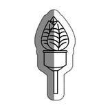 lumière d'ampoule avec le symbole d'écologie de feuilles illustration de vecteur
