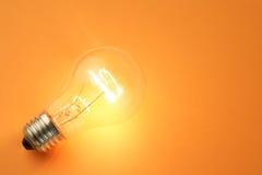 lumière d'ampoule lumineuse Images libres de droits