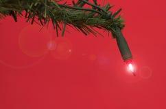 Lumière d'arbre de Noël Image libre de droits