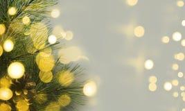 Lumière d'arbre de Noël images stock