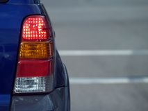 Lumière d'arrière de SUV Photographie stock