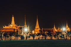 Lumière d'or de Wat Phra Kaew de Sanam Luang Images libres de droits
