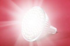 Lumière d'endroit d'ampoule de DEL photos libres de droits