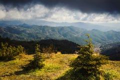 Lumière d'hiver dans les montagnes de Troodos Photographie stock