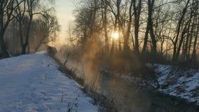 Lumière d'hiver du Soleil Levant