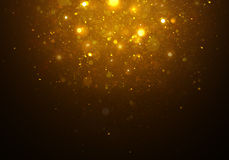 Lumière d'or magique d'étoiles Photo stock