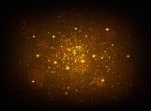 Lumière d'or magique d'étoiles illustration libre de droits