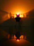 Lumière d'une bougie Photo stock