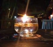 Lumière d'une tasse Image stock