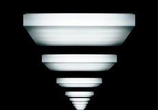 Lumière dans l'obscurité Image stock