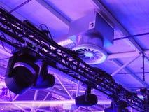 Lumière dans la salle de concert Photographie stock