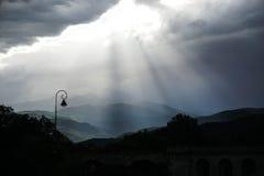 Lumière dans la vallée Photos libres de droits