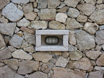 Lumière dans le mur de roche Images libres de droits