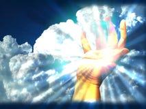 Lumière dans ma main illustration de vecteur